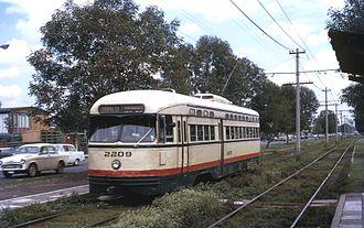 Servicio de Transportes Eléctricos - A PCC streetcar of STE in 1971