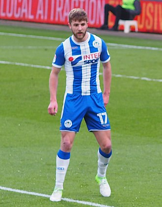 Michael Jacobs (footballer) - Jacobs playing for Wigan Athletic in 2018
