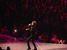 Jagger singt während der Rolling Stones 50 & Counting Tour in Boston, Massachusetts, 12. Juni 2013