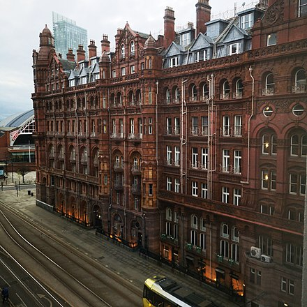 Side of the Midland Hotel Midland Hotel Manchester 2.jpg