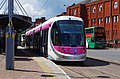 Midland Metro tram no. 20 on display at St. Georges, Bilston Street, Wolverhampton, geograph-4026763-by-P-L-Chadwick.jpg
