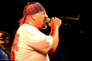 Crossover thrash -  Mike Muir frontman of crossover thrash band Suicidal Tendencies