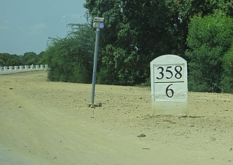 Furlong - Mileposts on the Yangon-Mandalay Expressway use miles followed by furlongs