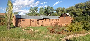 National Register of Historic Places listings in Mora County, New Mexico - Image: Mill and Warehouse at La Cueva NM