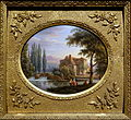 Mill on river Epte (Eure), Jean-Baptiste-Gabriel Langlace, before 1844, painting on porcelain - Villa Vauban - Luxembourg City - DSC06521.JPG