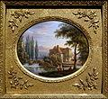 Mill on river Epte (Eure), Jean-Baptiste-Gabriel Langlace, before 1844, painting on porcelain - Villa Vauban - Luxembourg City - DSC06521.JPG