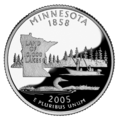 Minnesota quarter, reverse side, 2005.png