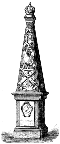 File:Minnesstenen vid Fredrikshald över Karl XII (ur Svenska Familj-Journalen 1867).png