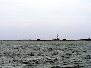 Minsener Oog - Minsener Oog seen from the mainland to the south