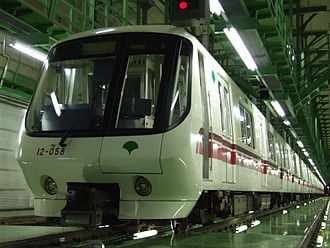 Toei 12-000 series - First-batch set 05 with painted aluminium body in November 2007