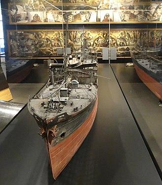 San Demetrio London - Image: Model of MV San Demetrio, on display at IWM 01