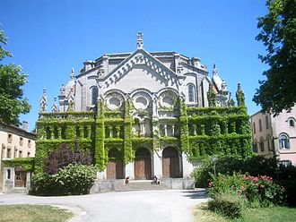 Notre-Dame-de-Prouille Monastery - West end of the monastery church, rebuilt in the 19th century
