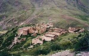 Yerpa - Image: Monastery ruins, Yerpa 1993