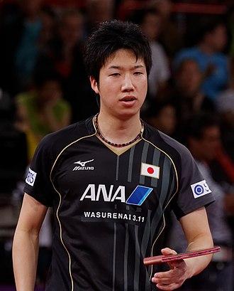 Jun Mizutani - Mizutani at the 2013 World Table Tennis Championships