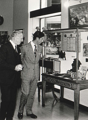 Keith Kissack - Keith Kissack with Prince Charles in Monmouth Museum, 1975.