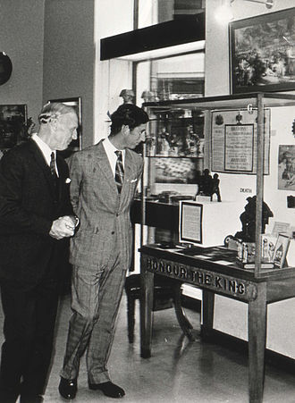 Monmouth Museum - Keith Kissack with Prince Charles in the Museum, 1975.