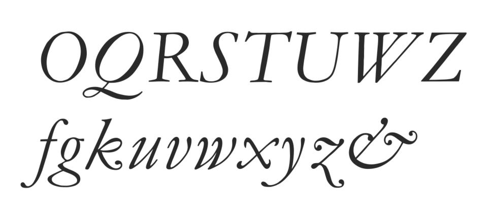 Monotype Garamond italic