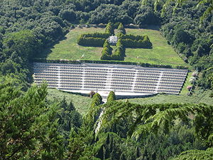 Polish Cemetery at Monte Cassino - Polish Cemetery, as seen from Monte Cassino monastery