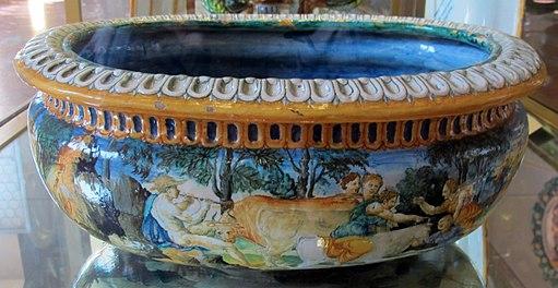 Monte bagnolo (pg), francesco durantino, rinfrescatoio con scene d'amore tra divinità marine, 1549, 2