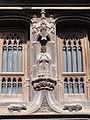 Moret-sur-Loing (77), maison Raccolet, accolade et niche à statue au-dessus de la porte.JPG