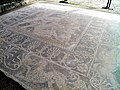 Mosaic floor depicting a battle of Greeks and Amazon (Amazonomachy), East side of the House of the Abduction of Helen, Ancient Pella (6913845860).jpg