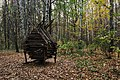 Moscow, hut-shaped bird feeder in Losiny Ostrov forest (31398804600).jpg
