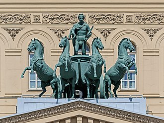 Bolshoi Theatre - The quadriga was sculpted by Peter Clodt von Jürgensburg.