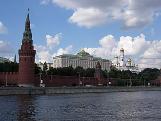 Politics of Russia -  The Moscow Kremlin has been the central location of Russian political affairs since Soviet times.
