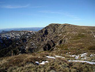 Alpine National Park - The summit of Mount Howitt taken from West Peak