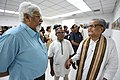 Mrinal Kumar Bandyopadhyay Converse With Somendranath Bandyopadhyay - 1st Four Ps Group Exhibition - Kolkata 2019-04-17 5503.JPG