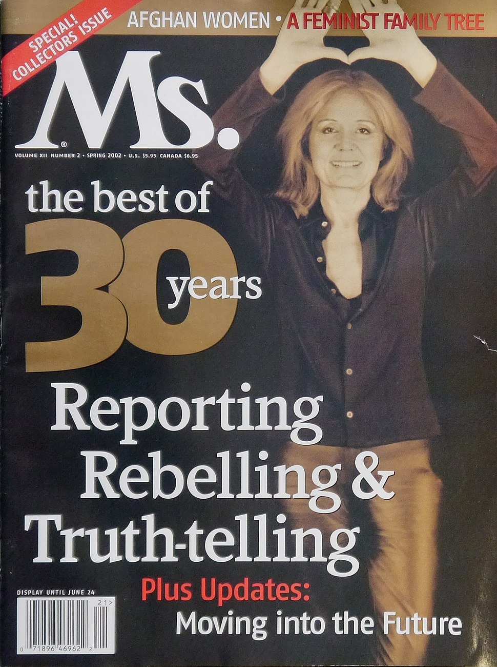 Ms. magazine Cover - Spring 2002