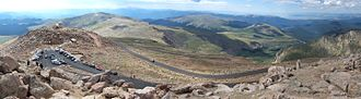 Colorado State Highway 5 - State Highway 5 from summit of Mt. Evans