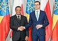 Mulatu Teshome with Mateusz Morawiecki in Warsaw - 2018 (40792938585).jpg