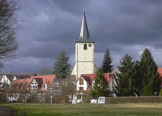 Murr, Baden-Württemberg - View of the village with church, Murr, Germany