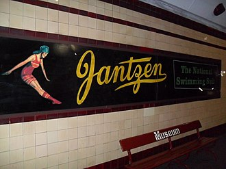Jantzen - Heritage sign at Museum railway station, Sydney