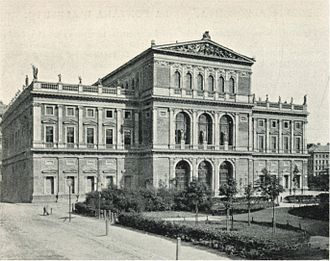 Symphony No. 6 (Dvořák) - Musikverein, the Vienna Philharmonic Orchestra's concert hall in 1898