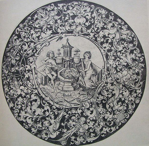 File:Musizierendes Paar am Brunnen (Meckenem).jpg