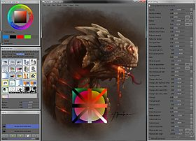 Capture d'écran de MyPaint version 0.9.0