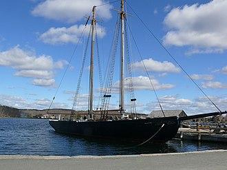 L. A. Dunton (schooner) - L.A. Dunton in Mystic Seaport