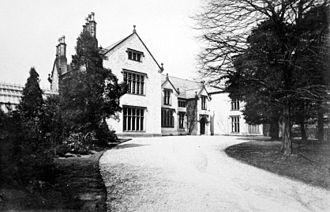 John Hick (politician) - Mytton Hall – entrance c.1893, by Thomas Parkinson, Bolton.