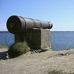 1600-tal kanon på Næseskansen i Botkyrka kommune
