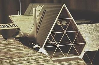 Vince Lee (explorer) - Lee's model of NCOBS Asheville project,1964