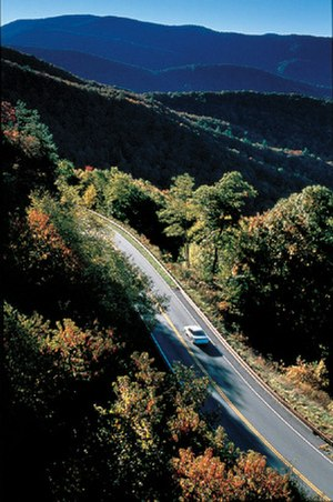 Cherohala Skyway - Cherohala Skyway in early autumn