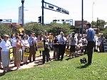 NM Unions Protest John McCain at Hotel Albuquerque (2673717446).jpg