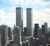 Il World Trade Center, uno dei tre siti degli attentati dell'11 settembre 2001