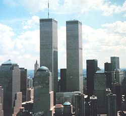 The World Trade Center, one of three sites on which the September 11, 2001 attacks took place.