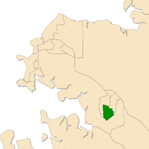Electoral division of Blain - Location of Blain in the Darwin/Palmerston area