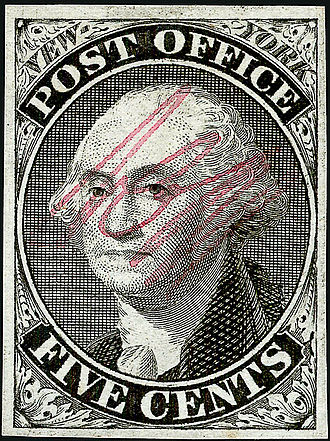 Postage stamps and postal history of the United States - New York Postmaster's Provisional, 1845