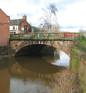 Nantwich Bridge - The present Nantwich Bridge (viewed from the south) dates from 1803.