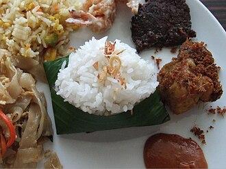 Coconut rice - Nasi uduk, a Jakartans coconut rice.